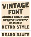 Vintage Font Sign